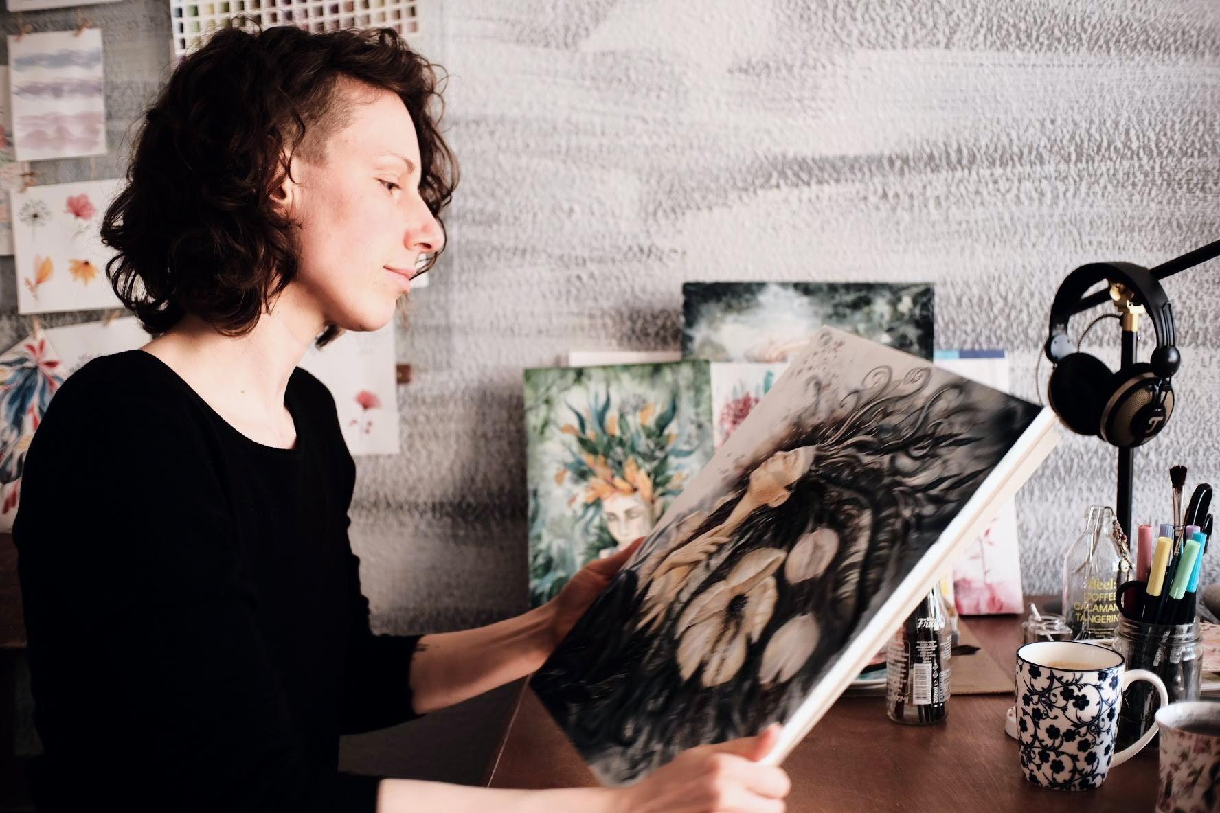 Innerer Kritiker Maria und der Pinsel Kreativität Gelassenheit Prozess
